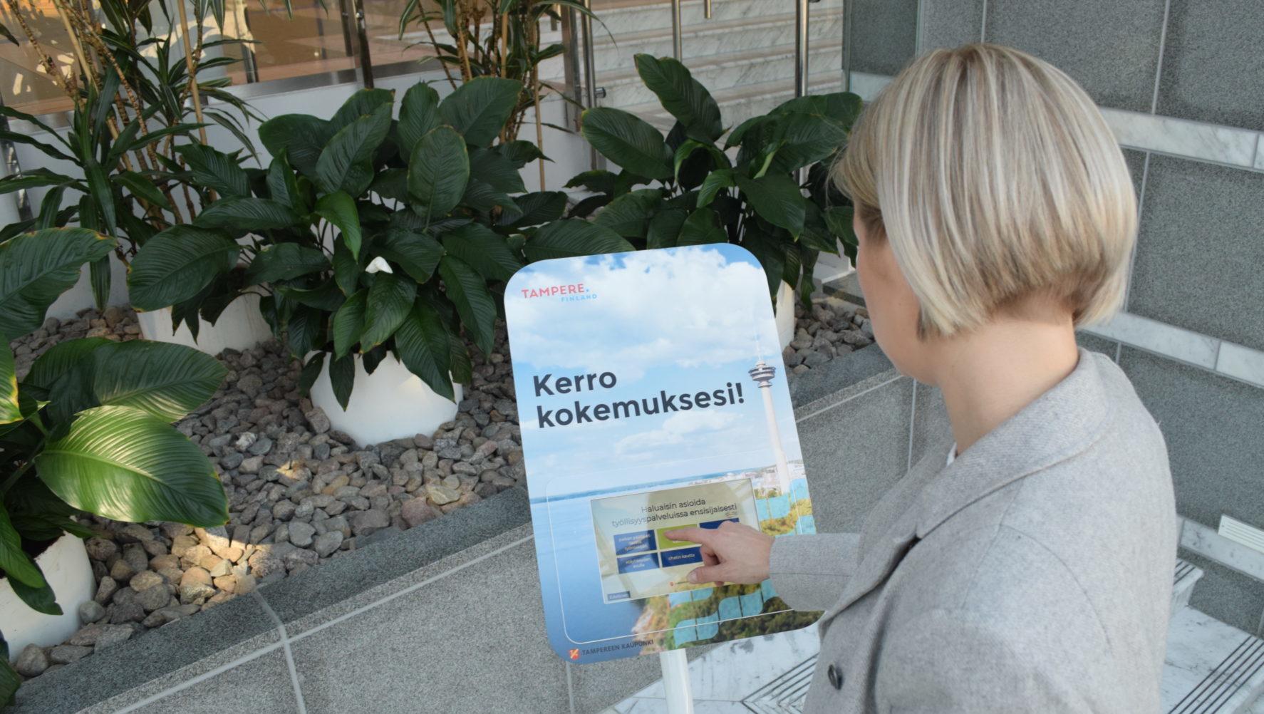 Tampereen kaupunki Roidu palautelaite, asiakaskokemus, customer experience