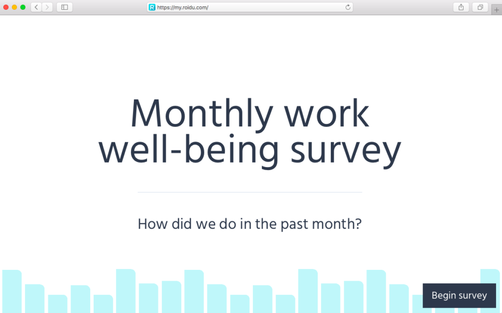 Measuring workplace wellbeing