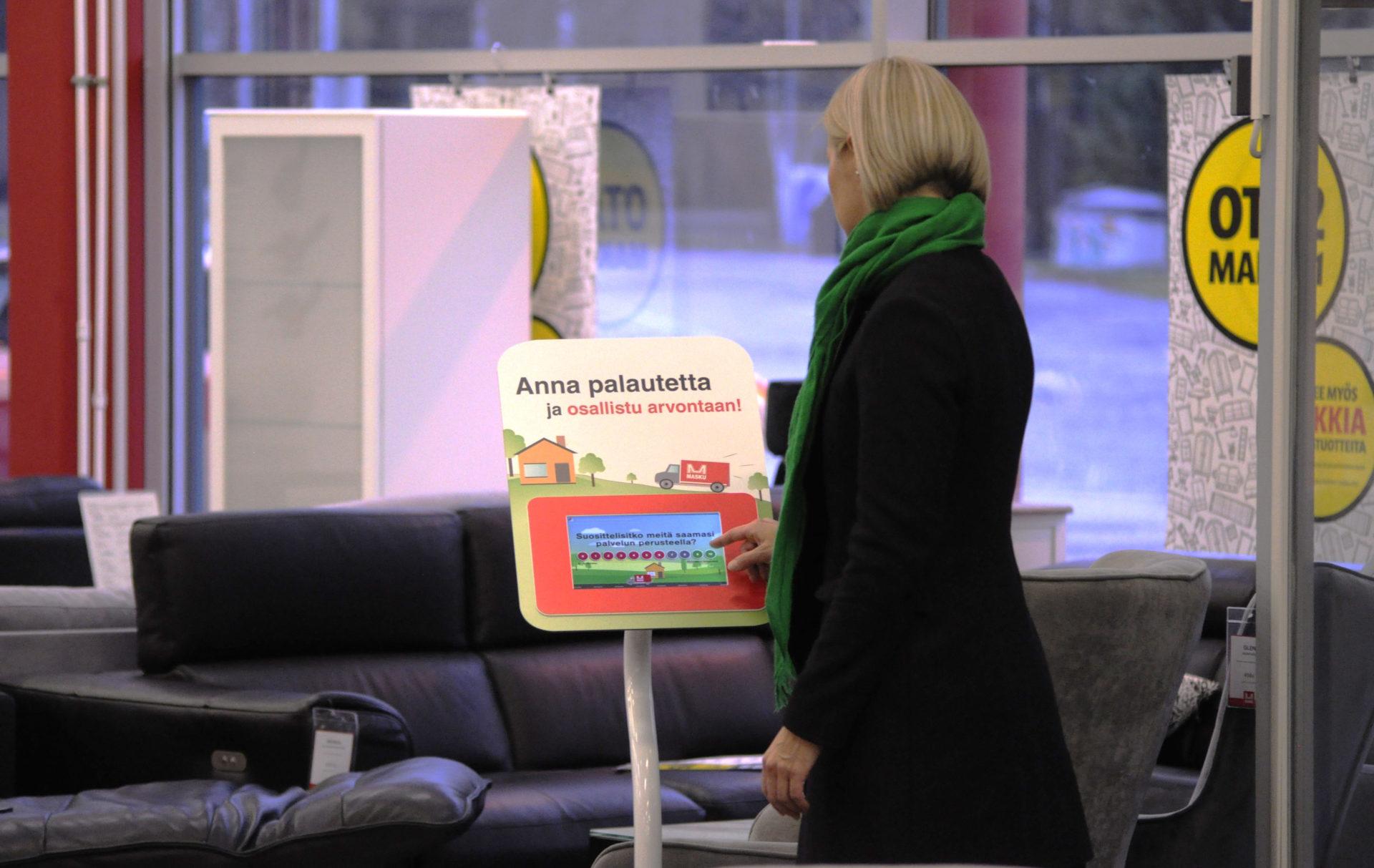 Masku mittaa asiakaskokemusta Roidun palautelaitteilla